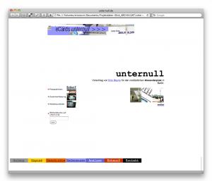 Die Startseite (unternull.de, September 2000)