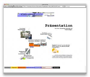 "Seite ""Präsentation"" (unternull.de, September 2000)"