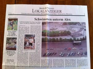 Schwimmen unterm Alex (Berliner Morgenpost)